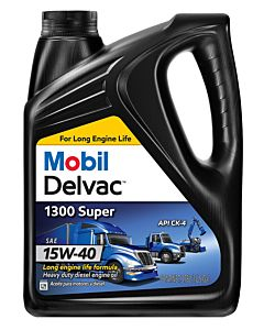 Mobil Delvac 1300 Super 15W40 (Case of 4 - 1 Gal. Containers)
