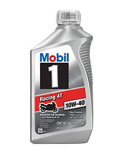 Mobil 1 Racing 4T 10w40 Quart Front