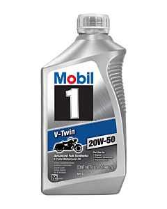 Mobil 1 V-Twin 20w-50 Quart Front