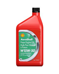 Shell Aeroshell W 15w50 (Case - 12 Quarts)