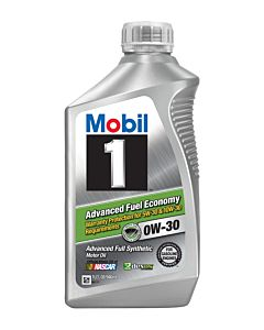 Mobil 1 0w-30 Advanced Fuel Economy Front