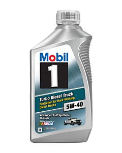 Mobil 1 Turbo Diesel Truck 5W-40 (Case - 6 Quarts)